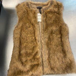 INC faux fur vest NWT